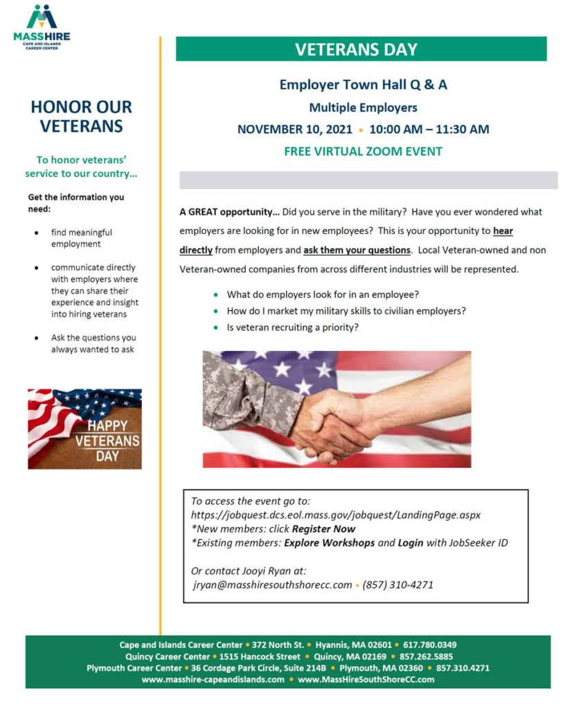 Veterans' Day Employer Town Hall Q&A