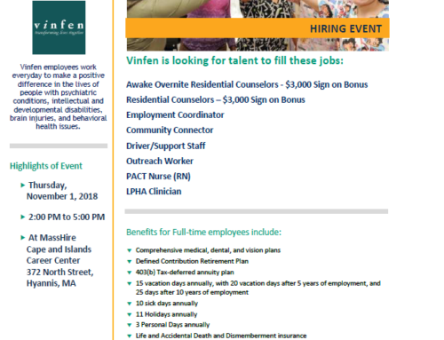 Vinfen Hiring Event – Are You the Right Candidate?