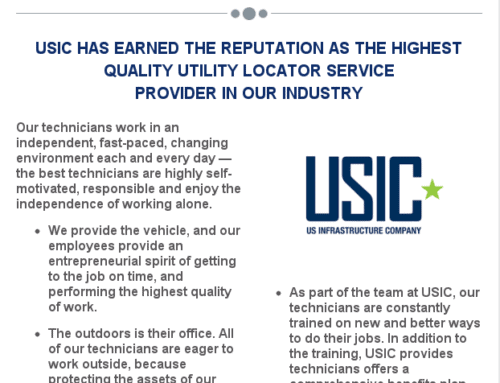 USIC is Now Hiring – Full Time Locate Techs